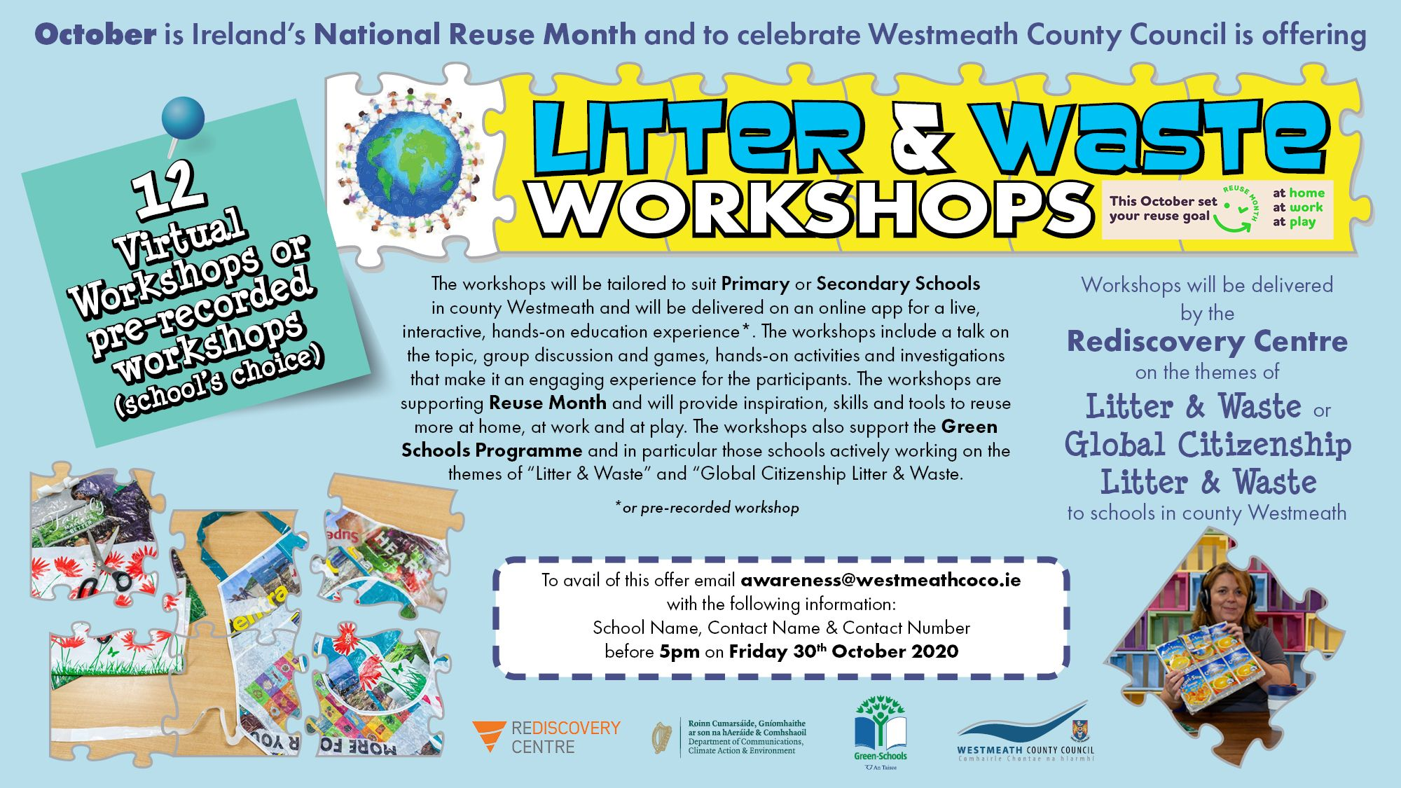 Litter and Waste Workshops Poster