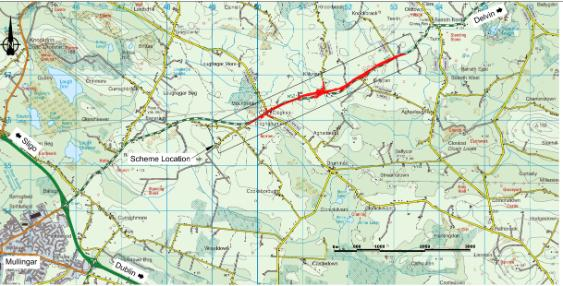 Roadwork's Speed Limit N52 Cloghan to Turin Map