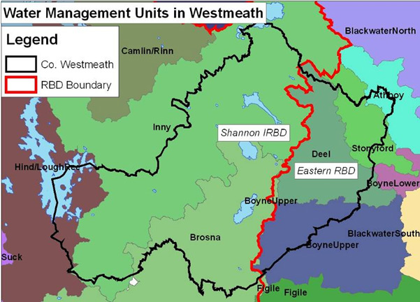 Water Management Units in Westmeath