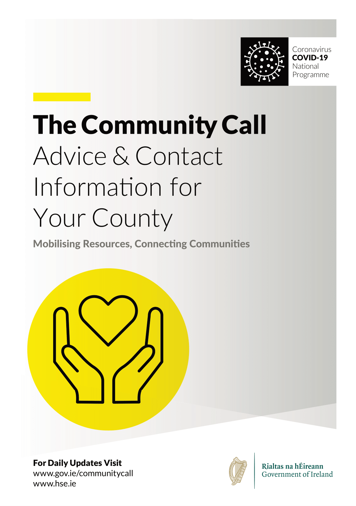The Community Call Booklet front cover